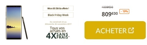 Carte Sd Boulanger.Black Friday Galaxy Note 8 Carte Sd 256go Ou Galaxy A5 2017 A