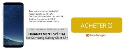 Galaxy S8 chez Boulanger