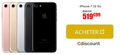 soldes l iphone 7 neuf prix imbattable chez cdiscount. Black Bedroom Furniture Sets. Home Design Ideas