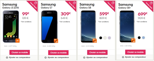 Vente flash Samsung