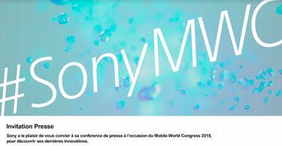 Conférence Sony MWC