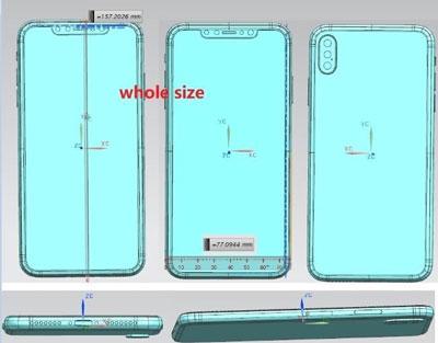 Le schéma du supposé iphone x plus