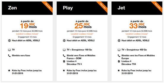 Offres Livebox ADSL