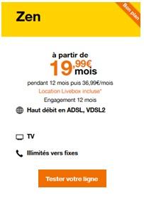 Bon Plan Orange L Offre Livebox Zen Fibre A 19 99 Mois