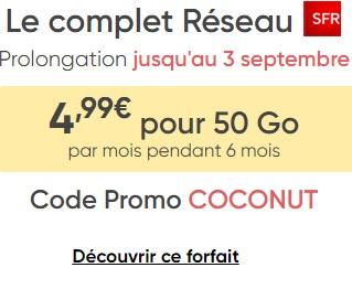 prolongation promotion Prixtel 50 Go à moins de 5 euros