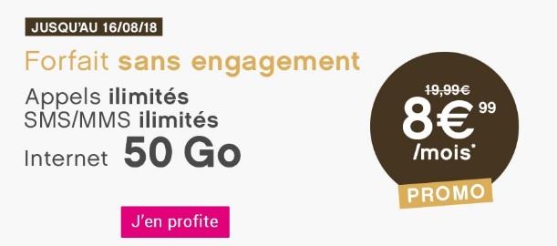 promo 50Go à 8,99 euros pendant 1 an chez Coriolis
