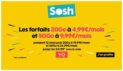 Forfaits Sosh