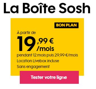 la Boite SOSH Fibre en promo