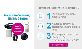 Comment profiter de la promo accessoire Samsung chez           Bouygues Telecom