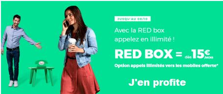 abonnement red box adsl à 15 euros