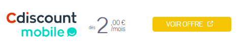 Forfait 200 mn Cdiscount Mobile