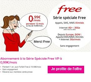 souscrire à la vente privée free mobile à 0,99 euros