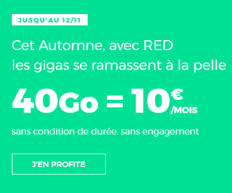 forfait40Go à 10€ RED by SFR
