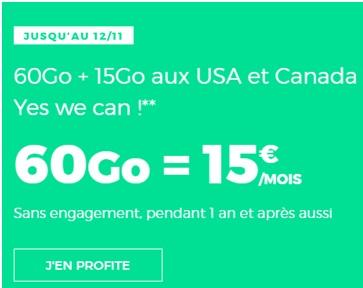 série red 60Go à 15 euros