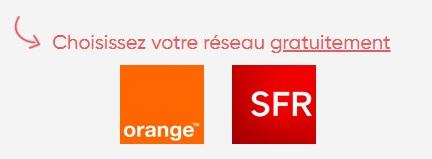 réseau Orange ou SFR pour Prixtel