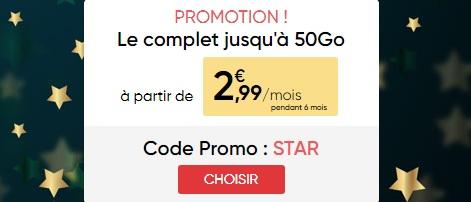 promo noël 2018 Prixtel à 2,99 euros
