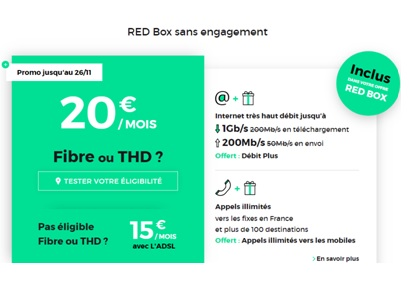 promotion RED Box Internet pour NOEL 2018