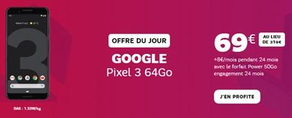 Promo Google Pixel 3 Black Friday chez SFR