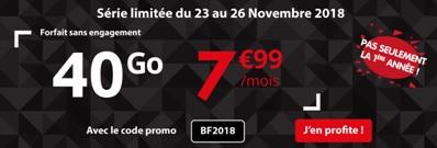 série limitée Auchan Telecom à 7,99€ pour 40Go et appels illimités