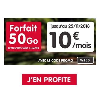 Forfait NRJ 50Go promo à 8,99€