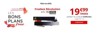 Bon plan Freebox révolution