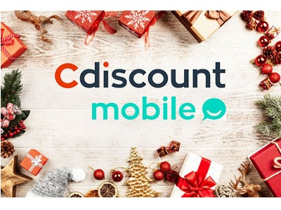 logo cdiscount mobile entouré de paquets cadeaux