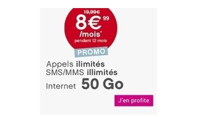 forfait coriolis 50Go à 8,99 euros en promotion