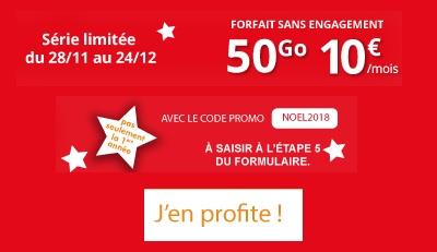 forfait promo Auchan 50Go à 10 euros par mois