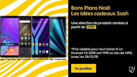 smartphones sosh en promotion pour noel