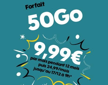 forfait 50go promo sosh