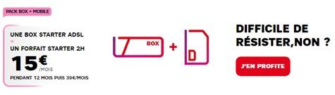 Offre Mobile et box sfr