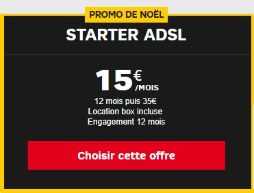 offre starter adsl sfr à 15 euros en promo pour noël
