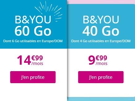 forfaits b&you 40go et 60go en promotion
