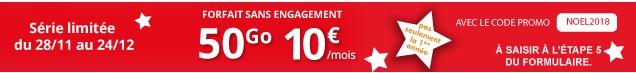 forfait auchan telecom 50go à 10€ en promo