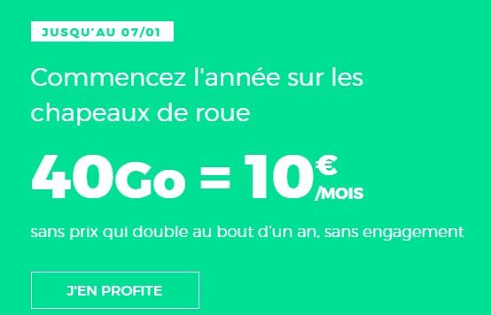 forfait 40go à 10 euros chez red by sfr