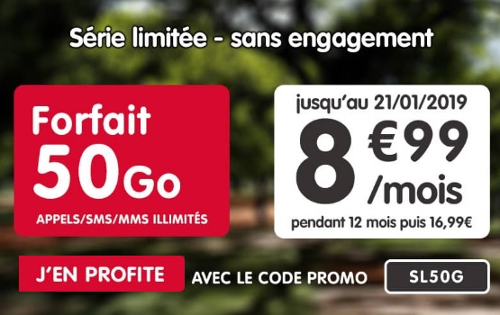 série limitée 50Go à 8,99 euros chez nrj mobile