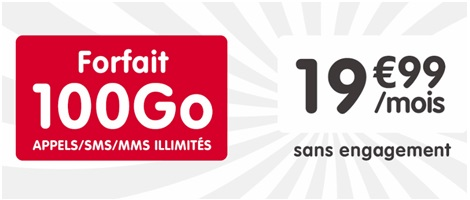 le forfait NRJ Mobile 100Go international