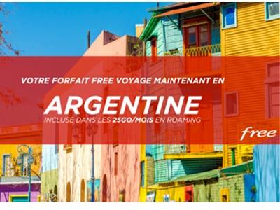 argentine ajoutée à la lliste des destinations en roaming