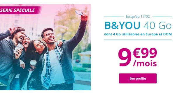 la promo B&You de Bouygues Telecom