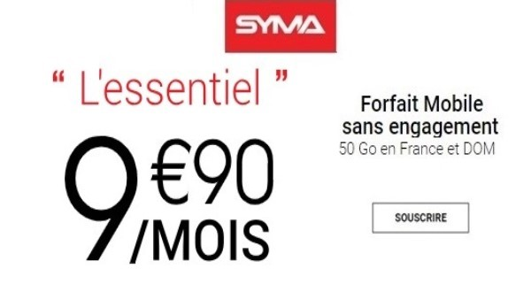 le forfait Syma mobile