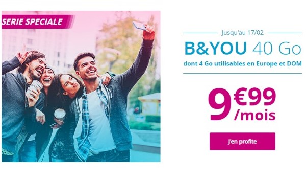le forfait mobile B and You 40 Go