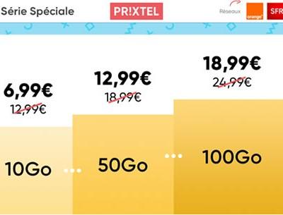 la serie speciale prixtel de 10go à 100go