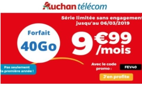 le forfait auchan telecom 40go