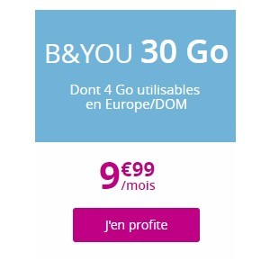 le forfait B and you 30Go