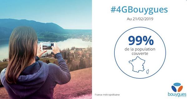 Couverture 4G Bouygues Telecom