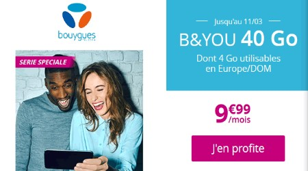 le forfait B and You 40Go
