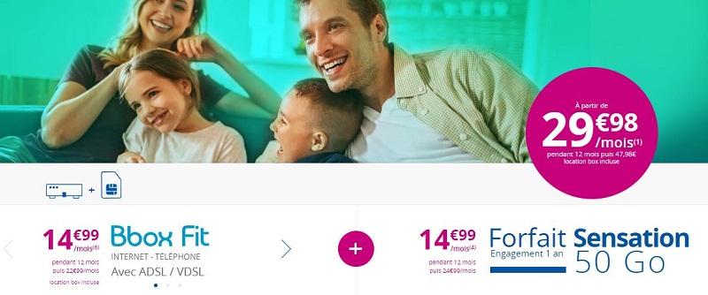 Pack BBOX + forfait Sensation Bouygues Telecom