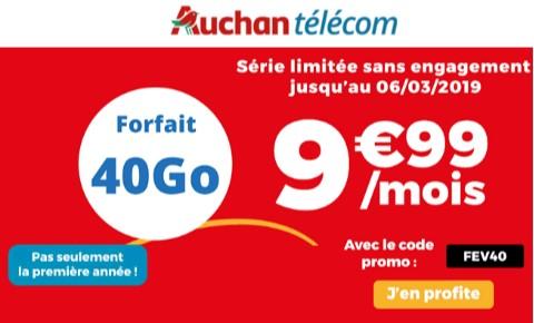 forfait auchan telecom 40go
