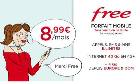 vente privee free mobile 40go