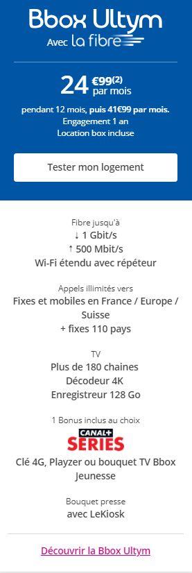 BBOX Ultym Bouygues Telecom